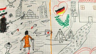 Zeichnung eines syrischen Kindes
