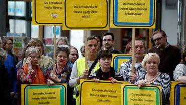 Protest der Beschäftigten