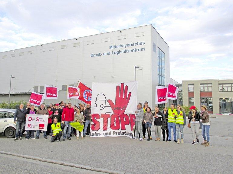 Protest beim Druckservice Regensburg