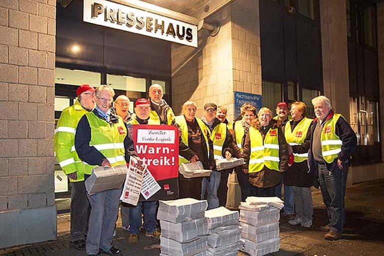 Funke-Zusteller streikten in Hagen